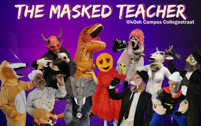 'The Masked Teacher' in kOsh Collegestraat