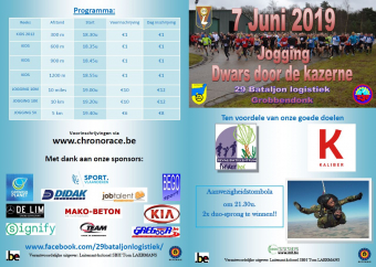 Jogging 29Bn Log 'Dwars door de kazerne'